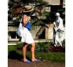 Avarcas femme classique bleu royal-argenté
